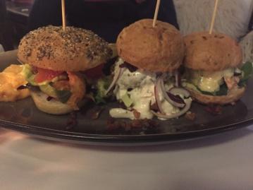 3 minis burgers au Norden Café